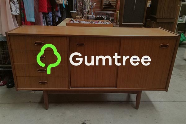 image of furniture and Gumtree logo