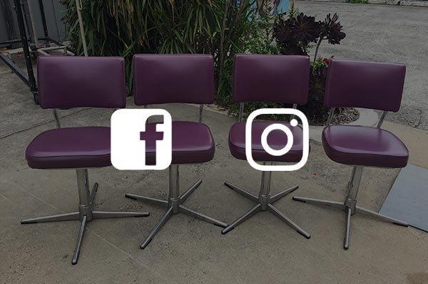 image of stools and social media logos